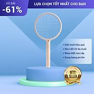 Vợt Bắt Muỗi Cầm Tay Thiết Kế Nhỏ Gọn, Công Nghệ Bẫy Muỗi Đèn UV Với 3 Lớp Lưới Điện Dày thumbnail