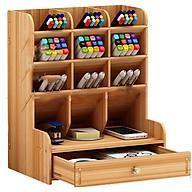 Hộp cắm bút bằng gỗ, kệ bút mini , hộp bút , cắm viết các loại ( Mầu ngẫu nhiên ) thumbnail