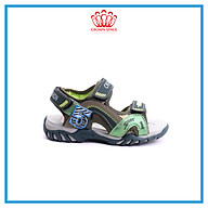 Dép Quai Hậu Cho Bé Trai Đi Học Thời Trang Cao Cấp Crown Space UK Active Sandals CRUK526 Da Nhẹ Êm Thoáng Khí Thấm Hút Mồ Hôi Cho Trẻ Size từ 26-35 2-14 thumbnail