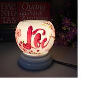 Đèn xông tinh dầu - Đèn gốm vẽ mini thumbnail