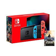 Máy Chơi Game Nintendo Switch Với Neon Blue-Game Zelda Breath of the Wild-MODEL 2019-HÀNG NHẬP KHẨU thumbnail