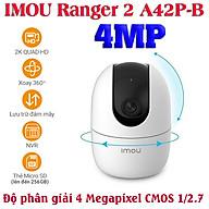 Camera wifi gia đình IMOU Ranger 2 A42P-B 4MP chính hãng xoay 360 độ , đàm thoại hai chiều , nhận thông báo khi phát hiện chuyển động và tiếng động lạ - Hàng Chính Hãng thumbnail