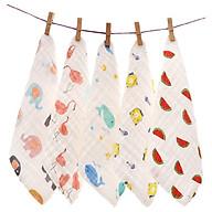Set 5 khăn sữa sợi tre 4 lớp,siêu mềm mại, siêu kháng khuẩn, chọn màu ngẫu nhiên thumbnail