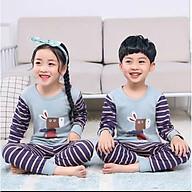 Sét quần áo thu đông cho bé in hình đáng yêu thumbnail