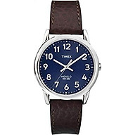 Timex Men s T2P319 Easy Reader Brown Leather Strap Watch thumbnail