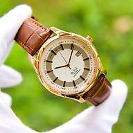 Đồng hồ nam phong cách Ý dây da mặt tròn OM003207 hiển thị lịch ngày Thiết kế sang trọng Lịch lãm Phù hợp đi làm đi chơi thumbnail