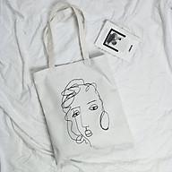 Túi xách vải Canvas đeo vai thời trang cho nữ thumbnail