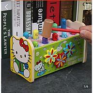 Đồ chơi gỗ thông minh - Hộp đập chuột kết hợp đàn cho bé tập phản ứng nhanh nhạy của đôi tay và phân biệt màu sắc cơ bản MK00103 thumbnail