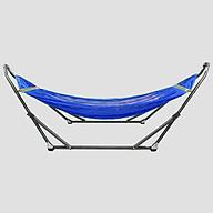 Bộ Khung Võng Xếp Thái Sơn - Relax (Sắt, sơn tĩnh điện) + Võng lưới 2 lớp loại A, cán thép dài 50 cm thumbnail
