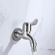 Vòi nước máy giặt KAMA INOX SUS304 - Vòi hồ nước ban công, sân vườn - Hàng chính hãng thumbnail
