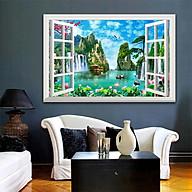 Tranh dán tường cửa sổ 3D trang trí phòng khách, phòng ngủ, phòng ăn SƠN THỦY HỮU TÌNH đã có sẵn keo dán 1739L11 thumbnail