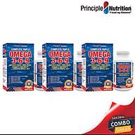 [COMBO] Viên uống bổ sung Omega 369 (3-6-9) PRINCIPLE NUTRITION USA hỗ trợ tim mạch cải thiện trí nhớ giảm căng thẳng đau khớp giúp ổn định huyết áp làm đẹp da và tốt cho mắt thumbnail