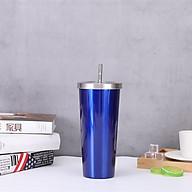 Bình giữ nhiệt 5 lớp lõi inox 304 kèm ống hút inox TGN.04 dung tích 800ml (tặng kèm đế lót cốc bằng gỗ) giao ngẫu nhiên thumbnail