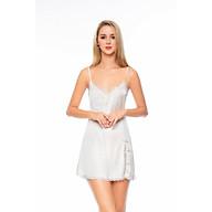 DREAMY-(VS02-06)-Váy Ngủ Lụa Cao Cấp, Váy Ngủ Nữ, Váy Ngủ Gợi Cảm, Váy Ngủ Sexy, Váy Ngủ Lụa Hai Dây, Đầm Ngủ Lụa Mặc Nhà Hai Dây Phối Ren Xẻ Tà Xinh Xắn Quyến Rủ Gợi Cảm thumbnail