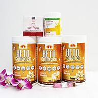 Combo 3 hộp Keto Collagen 500g [Chính Hãng] - Bữa ăn Keto hỗ trợ GIẢM CÂN SIÊU TIỆN LỢI cho người thực hành Keto và người muốn giảm cân - Giảm 3-7Kg 1 tháng [Tặng 1 Sữa nghệ Hera 100g giúp hỗ trợ giảm đau bao tử, 1 hộp Mặt nạ Saffron sữa ong chúa và 1 Thước dây] thumbnail