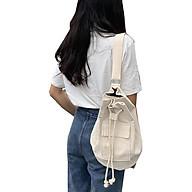 Túi đeo vai IELGY dây rút có ngăn túi hộp bên ngoài bằng canvas thời trang trẻ trung cho nữ thumbnail