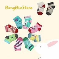 set 2 đôi tất trẻ em chất liệu cotton đẹp size cho bé 1 đến 3 tuổi, hình thêu đẹp sắc nét siêu đáng yêu thumbnail
