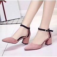 Giày cao gót 6 phân bít mũi gót sọc đơn LT (BM022) thumbnail