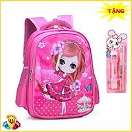 Balo cặp sách đi học mầm non tiểu học cho bé gái in 3D đẹp mắt (Tặng combo dụng cụ 4 món) E118 thumbnail