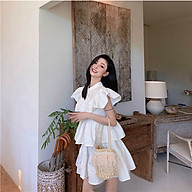 Đầm trắng cổ trụ tay tiên bèo tầng M.ON Boutique thumbnail