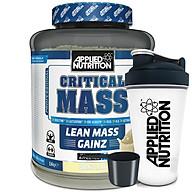 Sữa tăng cân tăng cơ Critical Mass vị vani Applied Nutrition 2,4kg và bình lắc thumbnail