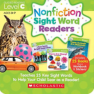 Nonfiction Sight Word Readers - Parent Pack Guided Reading Level C (Teaches 25 Key Sight Words to Help Your Child Soar as a Reader) thumbnail