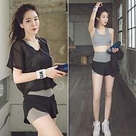 Set Bộ 3 đồ quần áo thun thể thao nữ áo ngoài zen ( Đồ Tập Gym, Yoga, Aerobic ) mã 8808 thumbnail