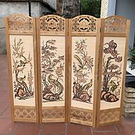 bình phong khung gỗ hoa văn cắt cnc nền mành 180x200 AT009 thumbnail