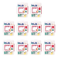 Combo 10 Hộp Ghim mũ nhựa màu Deli mã 21 kích cỡ 23mm nhiều màu dụng cụ văn phòng thumbnail