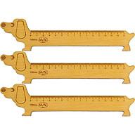 Combo 3 thước gỗ học sinh Nhatvywood 150mm - hình chó thumbnail