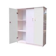 Tủ nhựa người lớn trẻ em 3 cánh cao 1m25 - TE3C125 ( 105cm x 45cm x 125cm ) - chất liệu nhựa Đài Loan 2 lớp cao cấp - KHÔNG CONG VÊNH - KHÔNG MỐI MỌT - KHÔNG ẨM MỐC AN TOÀN KHI SỬ DỤNG thumbnail