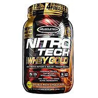 Sữa tăng cơ giảm mỡ Nitro Tech 100% Whey Gold của Muscle tech hương Socola hộp 31 lần dùng thumbnail