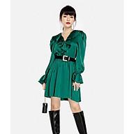 HNOSS Đầm bèo cổ dài tay 80% Polyester 20% Coton TDO12012054 thumbnail