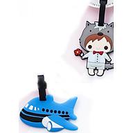 Thẻ hành lý, thẻ tên vail, thẻ treo vali Cậu Bé+ Máy bay xanh (Combo 2 thẻ) thumbnail