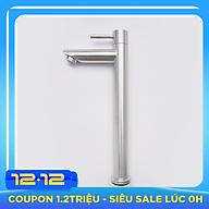 Vòi rửa chậu (lavabo) điếu lạnh tròn Inox SUS 304 3 tấc Yamato LDI03 thumbnail