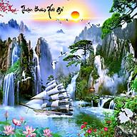 Tranh treo tường Thuận buồm xuôi gió - Trang trí phòng khách Gỗ MDF Hàn Quốc Chống ẩm mốc, mối mọt 13267-1 thumbnail