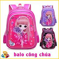 Balo cho bé gái nhiều màu xinh xắn in hình 3D sắc nét cho học sinh mẫu giáo tiểu học E119 thumbnail