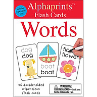 Alphaprints Wipe Clean Flash Cards Words thumbnail