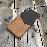 Ốp lưng da vải kiêm ví cao cấp dành cho iPhone X iPhone XS thumbnail