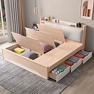 Giường ngủ ALALA 1m8 x 2m cao cấp - Gỗ MDF HMR Lõi Xanh chống nước - Thương hiệu alala.vn - ALALA40 thumbnail