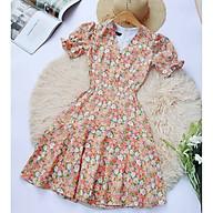 Đầm nữ hoa nhí đuôi cá thời trang hè MẶC SIÊU MÁT SIÊU XINH may 2 lớp, lót cotton mềm mịn thumbnail