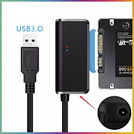 Bộ Chuyển Đổi Cáp Ổ Cứng USB SATA III Đen (3.0) Có đèn báo tín hiệu tốc độ cao + Tặng kèm que chọc sim thumbnail