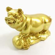 Tượng con heo vàng, chất liệu nhựa được phủ lớp màu vàng óng bắt mắt, dùng trưng bày trong nhà, những nơi phong thủy, cầu mong may mắn, tài lộc - TMT Collection - SP005240 thumbnail