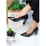 Giày cao gót đi tiệc da bóng nhũ ôm chân mảnh mai V017042 thumbnail