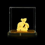 Tượng Con Giáp Tý Phủ Cát Vàng Mini - KIOJ thumbnail