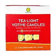 Nến tealight 50 viên màu vàng không mùi dày 1.5cm cháy từ 4h-5h Bio Aroma thumbnail