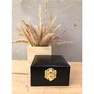 Hộp để trang sức, hộp trang sức bằng gỗ được sơn đen bên trong có lót nhung sang trọng thích hợp dùng làm quà tặng độc đáo thumbnail