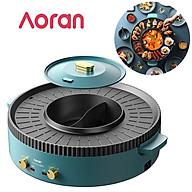 Bếp lẩu nướng đa năng cao cấp Aoran, công suất 2200W - Chất liệu cao cấp chống dính - HÀNG NHẬP KHẨU thumbnail