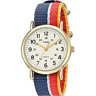 Timex Unisex TW2R101009J Weekender Multicolor Denim Slip-Thru Strap Watch thumbnail