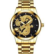 Đồng Hồ Nam Fngeen Rồng Vàng 3D Dây Thép Đúc Không Gỉ Sang Trọng Cao Cấp thumbnail